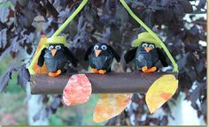 Three Crows Recycled Craft