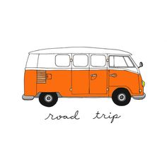 Volkswagen Bus - 5x7 Illustration Print, Digital Art ($12) ❤ liked on Polyvore featuring fillers, drawings, backgrounds, doodles, art, text, quotes, saying, scribble and phrase
