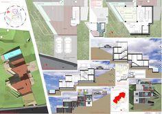 Casas en pendiente: 17 ejemplos de cómo adaptarse a un terreno inclinado - AboutHaus Floor Plans, How To Plan, Cottages, Dreams, Minimalist Home, Two Story Houses, Log Cabin Houses, Luxury Homes Interior, Home Plans