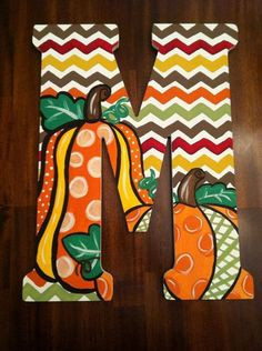 hand painted uga decor | Custom Hand Painted Fall Chevron Door Hanger/Wall by DAMartndesign, $ ...