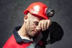 Photo about Portrait of tired coal miner wiping forehead his hand against a dark background. Image of forehead, injury, industry - 36906512 Safety Toolbox Talks, Lone Worker, Safety Management System, Heat Stress, Shift Work, Coal Miners, Today In History, Feel Tired, Physical Fitness