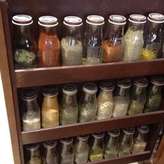 Starbucks bottles made into spice jars - if i only drank these!
