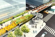 The architects' visions for the High Line in New York City #architecture #rendering