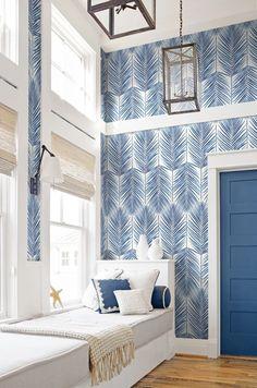 love the blue decor