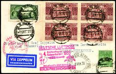 POLAND, 1933 (Aug 5-15), 4th South America Flight, post card from Warsaw via Berlin to Recife, Brazil, with all proper postmarks and backstamps; minor hinge marks on reverse, F.-V.F., quite scarce. Sieger No. 223. Est. 350 - 500 CHF
