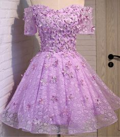 Outlet Colorful Homecoming Dresses With Appliques, Homecoming Dresses A-Line, Homecoming Dresses Purple, Homecoming Dresses Short Purple Quinceanera Dresses, Cheap Homecoming Dresses, A Line Prom Dresses, Prom Party Dresses, Dama Dresses, Dresses Short, Quince Dresses, Mini Dresses, Lilac Dress