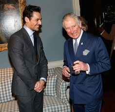 #DavidGandy and The Prince of Wales at the @Style4Soldiers Christmas Reunion Party