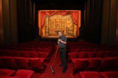 He prefers the wings to the limelight but Her Majesty's Theatre caretaker Kelvin Adams is one of the key players of #Adelaide's arts scene. Photo: Dylan Coker