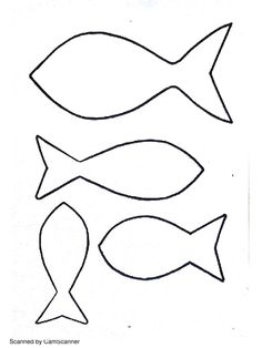 Dessin gabarit poissons à imprimer
