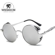 Fair price New Arrival Polarized Steampunk Sunglasses Men Women Coating Mirror Round Gothic Shades Metal Frame Sun Glasses High Quality just only $5.54 - 6.66 with free shipping worldwide  #womanaccessories Plese click on picture to see our special price for you