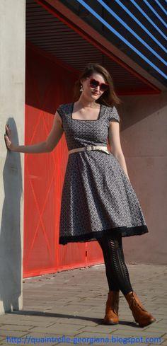 Waiting for summer days Rockabilly Style, Rockabilly Fashion, 1950s Fashion, Lolita Fashion, Vintage Fashion, Fashion Group, Handmade Dresses, Outfit Posts, Czech Republic