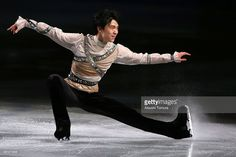 Yuzuru Hanyu of Japan performs his routine in the exhibition during ISU World Figure Skating Championships at Saitama Super Arena on March 30, 2014 in Saitama, Japan.