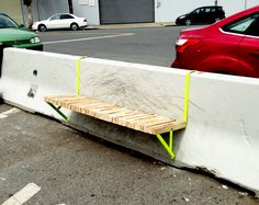 Street Barrier Bench by Augusto Serquiz, via Behance