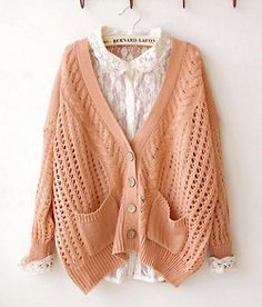 Oh, to be skinny enough to wear this sort of thing without it looking sloppy. Knitwear Fashion, Knit Fashion, Womens Fashion, Cute Sweaters, Winter Sweaters, Homemade Shirts, Mori Fashion, Kurti Neck Designs, Cool Outfits