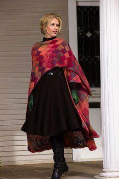 entrelac knitted shawl