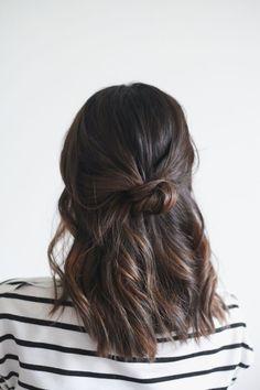 Hair Tutorial half up knot // Treasures & Travels Blog