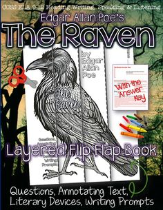 The Raven, by Edgar Allan Poe: Layered Flip Flap Book ($)