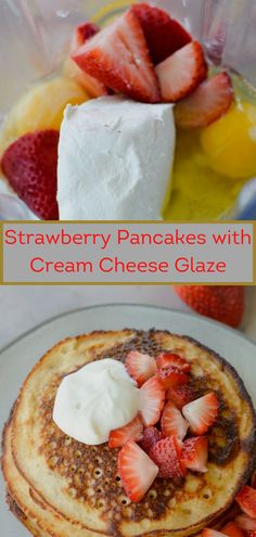Easy Chicken Recipes, Yummy Recipes, Delicious Desserts, Keto Recipes, Dessert Recipes, Cooking Recipes, Yummy Food, Strawberry Pancakes, Strawberry Desserts