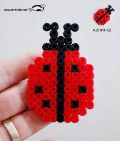 Ladybug hama perler beads
