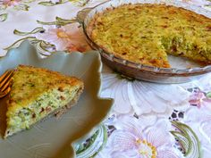 SPLENDID LOW-CARBING BY JENNIFER ELOFF: BACON ZUCCHINI QUICHE - worthy of company!  Visit us for more lovely recipes at: https://www.facebook.com/LowCarbingAmongFriends