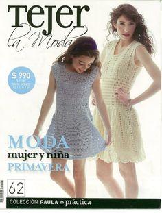 Revista ganchillo y 2 agujas   MUJER Y NIÑA   primavera   Nº 62