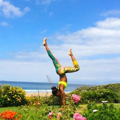 #Yoga...in a #garden...on a #beach...HEAVEN | #Lion of Zion #leggings by @WERKshopPINS