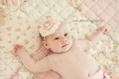 Sweetness  light pink ruffle and rosette headband by Birdie Baby Boutique on Etsy