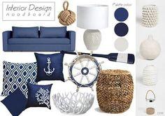 Interior Design moodboard #sea #blue #interior #design