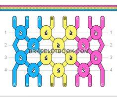 Normal Pattern added by Gaby_Caby Pan pride friendship bracelet Diy Bracelets Patterns, String Bracelet Patterns, Yarn Bracelets, Diy Bracelets Easy, Embroidery Bracelets, Bracelet Crafts, String Bracelets, Friendship Bracelets Tutorial, Friendship Bracelet Patterns