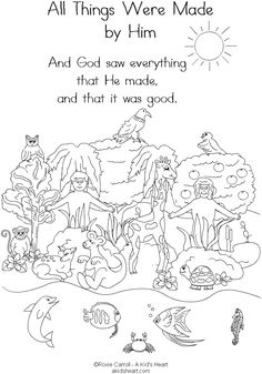 god created the earth coloring page | Creation The Garden of Eden ...