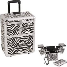 I'm learning all about Series Black Interchangeable E 360 Rotation Aluminum 3 Extendable Tier Train Case Cosmetic Storage Organizer Professional Makeup Artist Wheeled Luggage at @Influenster!
