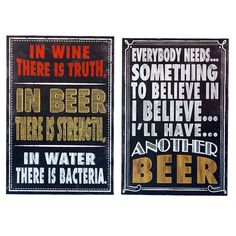 12 X 16-in Beer Verse Sign  (sold separately)