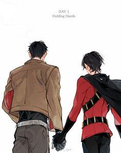 Red Hood and Red Robin. JayTim.