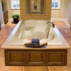 Hydro Systems Designer Makyla x Air Tub Finish: Bone Bath Tub For Two, Double Bathtub, Hydro Systems, Leelah, Soaking Bathtubs, Large Bathtubs, Large Tub, Decorating Rooms, Flats