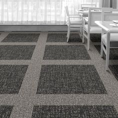 Interface Floor Design | WW890: Black Dobby, WW890: Natural Dobby | Find inspiration for your next interior design project with floors composed of modular carpet tiles from Interface