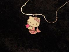 """Hello Kitty Mermaid Pendant and 16"""" Silver Plated Chain"""