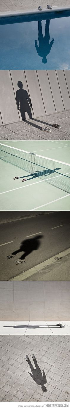 Creative photos using shadows…