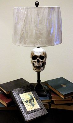 Skull lamp by DarkScaresDesign on Etsy, $65.00