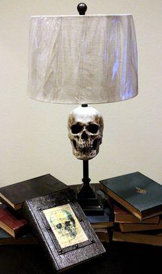 Skull lamp by DarkScaresDesign on Etsy, $65.00