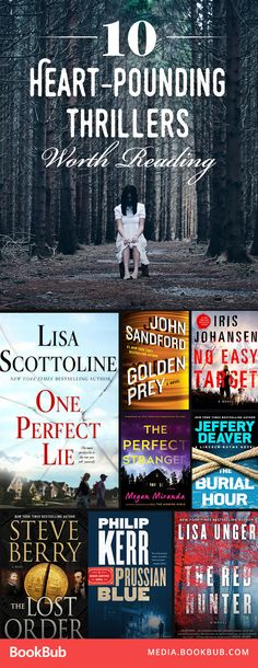 10 heart-pounding thriller books to read this year. These books have suspense, mystery, and lots of crime! You won't be able to put them down.