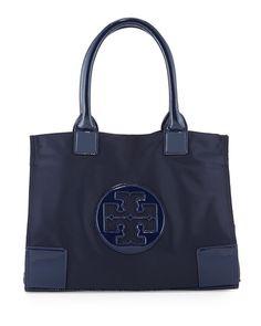 Tory Burch Ella Nylon Tote Bag, French Navy $195.00