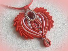 "DIY Medallion""Heart"",pendant,bias tape/Кулон из бейки ""Сердце"", своими р..."