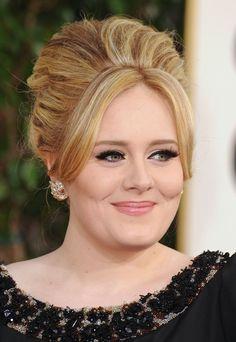Adele Golden Globes 2013 love her hair & makeup! Sew In Hairstyles, Haircuts For Long Hair, 2015 Hairstyles, Celebrity Hairstyles, Braided Hairstyles, Worst Hairstyles, Simple Hairstyles, Divas, Sandy Blonde Hair