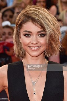 Actress Sarah Hyland arrives at the 2015 MuchMusic Video Awards at MuchMusic HQ on June 21, 2015 in Toronto, Canada.