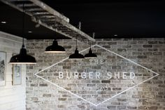 Burger Shed 10 | added texture to ceiling via rusty ladder?