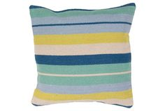 Thom 18x18 Cotton Pillow, Green
