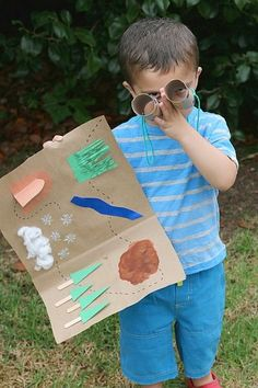 We're Going on a Bear Hunt Map and Binocular Activity for Kids. Great camp idea for Sparks Map Activities, Camping Activities, Camping Crafts, Preschool Activities, Camping Tips, Preschool Camping Theme, Camping Cabins, Camping Games, Campsite