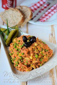 Posna slavska salata   Minjina Kuhinjica