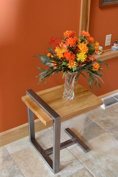 This is a great design for a modern and simple end table.