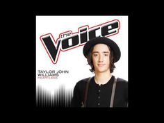 Taylor John Williams - Heartless - Studio Version - The Voice 7 -- this boy has the best voice and has my heart!
